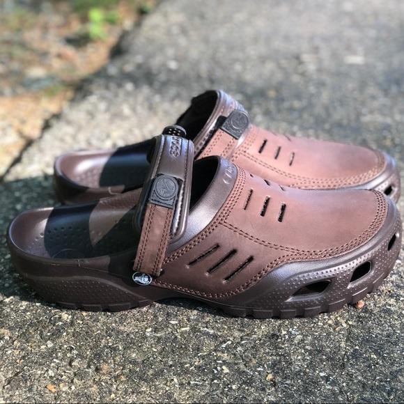 a137ba42b779a8 CROCS Other - Men s Crocs Yukon Bogota Clog Brown Size 12